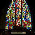 Colorful Stained Glass Chapel Window by Kathy Clark