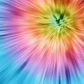 Colorful Starburst Tie Dye  by Phil Perkins