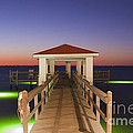 Colorful Sunrise With Fishing Pier At The Texas Gulf Coast by Andre Babiak