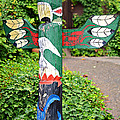 Colorful Totem by Susan Leggett
