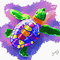 Colorful Turtle by Susan Cliett