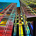 Colors In The City With Clouds by Jasna Buncic