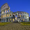 Colosseum At Blue Hour by Michael Yeager