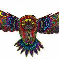 Coloured Owl by Karen Elzinga