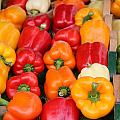 Colourful Peppers by Kim French