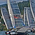 Columbia Gorge Sailboat Racing by Steven Lapkin