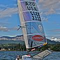 Columbia River Gorge Sailboat Racing by Steven Lapkin