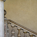 Column And Stairway At Wawel Castle In Krakow Poland by Greg Matchick