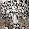 Column From Human Bones And Sku by Michal Boubin