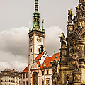 Column Of The Trinity And Town Hall by Maremagnum