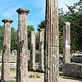 Columns At Olympia Greece by Eva Kaufman