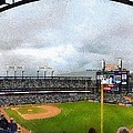 Comerica Park Home Of The Detroit Tigers by Michelle Calkins
