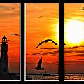 Coming Home Sunset Triptych Series by Michael Frank Jr