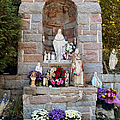 Comparison Mother Mary Shrine by Art Dingo