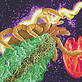 Composite Image Of A Tick And A Borrelia Bacterium by Volker Steger