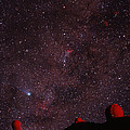 Composite Image Of Halley's Comet & Mauna Kea by Magrath Photographynielsen