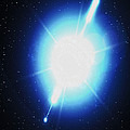 Computer Artwork Of A Gamma Ray Burst by Greg Baconnasa