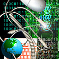 Computer Artwork Of Internet Communication by Victor Habbick Visions