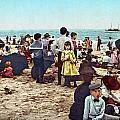 Coney Island: Beach, C1902 by Granger