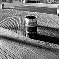 Coney Island Boardwalk In Black And White by Rob Hans