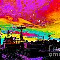 Coney Island In Neon B Flat Minor by Kendall Eutemey