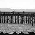 Coney Island Pier In Black And White by Rob Hans