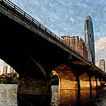 Congress Avenue Bridge And Downtown Austin Texas by Sarah Broadmeadow-Thomas