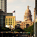 Congress Avenue In Austin And Texas State Capitol Building by Sarah Broadmeadow-Thomas
