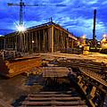 Constraction Site At Night by Jaroslaw Grudzinski