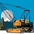 Construction Crane Hoist Retro by Aloysius Patrimonio