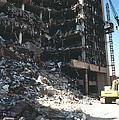 Construction Workers Erect An External by Everett