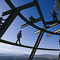Construction Workers On Beams by Paul Chesley