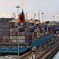 Container Ship Entering Panama Canal