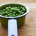 Cooking Pot With Green Peas by Yvonne Duivenvoorden