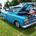 Cool Blues Classic Truck by Teri Schuster