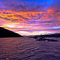 Copper River Fish Wheel Sunset by Sam Amato