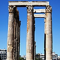 Corinthian Columns Of The Temple Of Olympian Zeus Ancient Ornate Greek Architecture Athens Greece by John Shiron