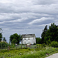 Corn Storm Clouds Horse Dirt Road Old House by Wilma  Birdwell