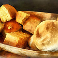 Cornbread And Rolls by Susan Savad