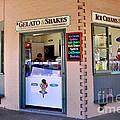 Corner Ice Cream Store by Kaye Menner