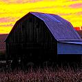 Cornfield Barn Sky by Randall Branham