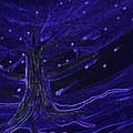 Cosmic Tree Blue by First Star Art