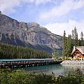 Crossing Emerald Lake Bridge - Yoho Nat. Park, Canada by Ian Mcadie