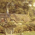 Cottage At Farringford Isle Of Wight by Helen Allingham