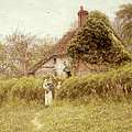 Cottage At Pinner Middlesex by Helen Allingham