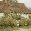 Cottage At West Horsley Surrey by Helen Allingham