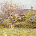 Cottage Freshwater Isle Of Wight by Helen Allingham