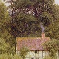 Cottage Near Brook  by Helen Allingham