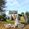 Cottage With Standing Stones by Diana Haronis