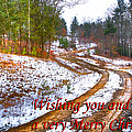 Country Lane Holiday Card by Debra and Dave Vanderlaan